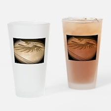Gold Trans AM Bird Drinking Glass