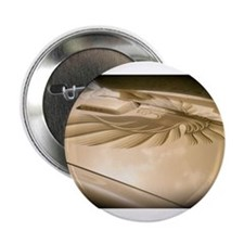 "Gold Trans AM Bird 2.25"" Button"