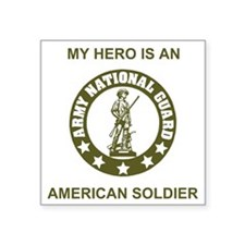 "ARNG-My-Hero-Avocado.gif Square Sticker 3"" x 3"""