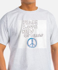 Peace, Love, New Orleans Ash Grey T-Shirt