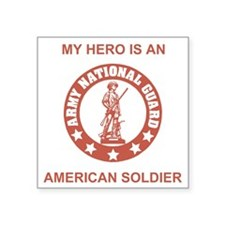 "ARNG-My-Hero-Salmon.gif Square Sticker 3"" x 3"""