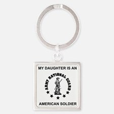 ARNG-My-Daughter.gif Square Keychain