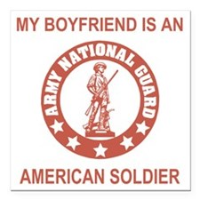 "ARNG-My-Boyfriend-Salmon Square Car Magnet 3"" x 3"""