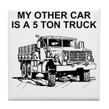 Army-Other-Car-Is-Truck.gif Tile Coaster