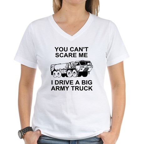 Army-Drive-A-Truck-2.gif Women's V-Neck T-Shirt