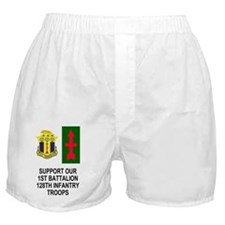 ARNG-128th-Infantry-1st-Bn-Support-Po Boxer Shorts