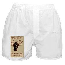 ARNG-127th-Infantry-B-Co-Black-Sheep- Boxer Shorts
