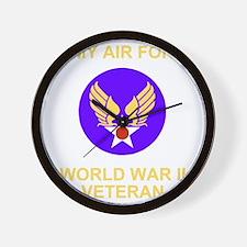 AAF-Veteran-Black Wall Clock