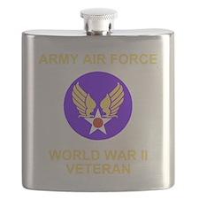AAF-Veteran-Black Flask