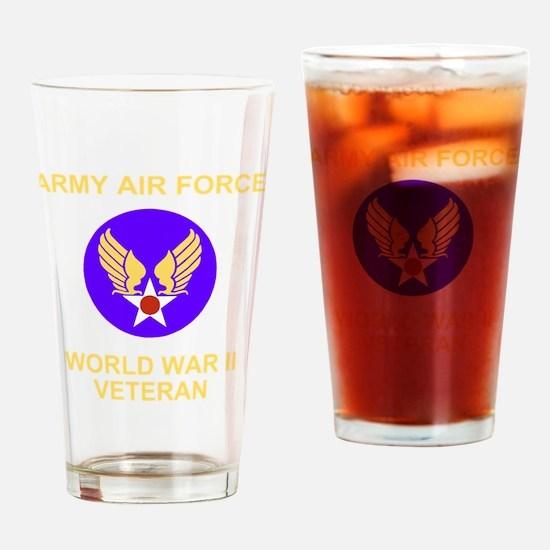 AAF-Veteran-Black Drinking Glass