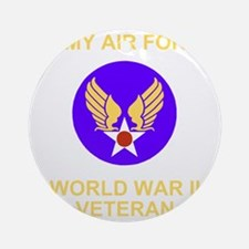 AAF-Veteran-Black Round Ornament