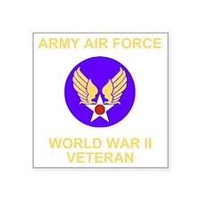 "AAF-Veteran-Black Square Sticker 3"" x 3"""