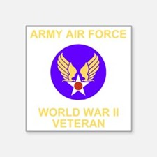 "AAF-Veteran-Black Square Sticker 3"" x 3"""