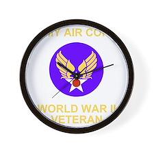 AAC-Veteran-Black Wall Clock