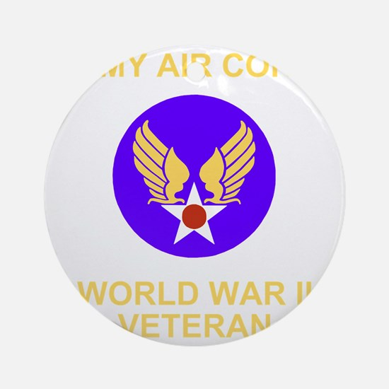 AAC-Veteran-Black Round Ornament
