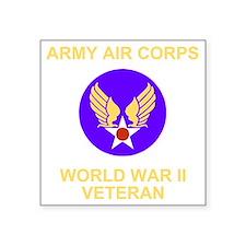 "AAC-Veteran-Black Square Sticker 3"" x 3"""