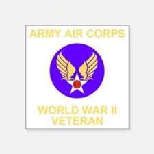"AAC-Veteran-Black Square Sticker 3"" x 3"""