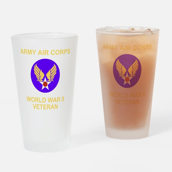 AAC-Veteran-Black Drinking Glass