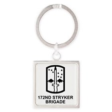 Army-172nd-Stryker-Bde-Messenger-4 Square Keychain