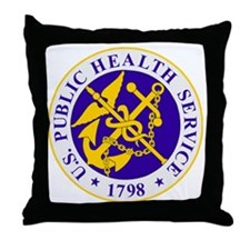 USPHS-Black-Shirt Throw Pillow
