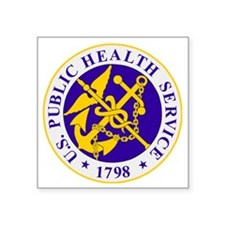 "USPHS-Black-Shirt Square Sticker 3"" x 3"""