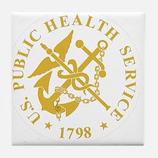 USPHS-Black-Shirt-3 Tile Coaster