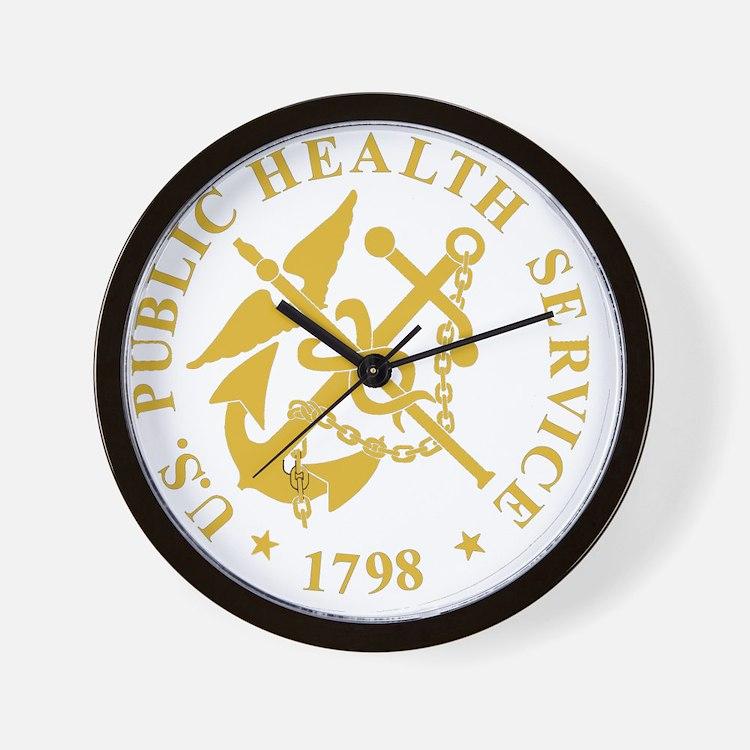 USPHS-Black-Shirt-3 Wall Clock