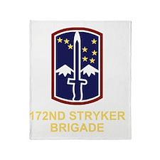 Army-172nd-Stryker-Bde-Black-Shirt-3 Throw Blanket