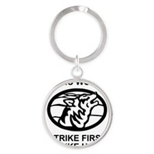 Army-172nd-Stryker-Bde-Arctic-Wolve Round Keychain
