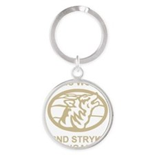Army-172nd-Stryker-Arctic-Wolves-Bl Round Keychain