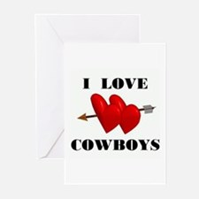 LOVE COWBOYS Greeting Cards (Pk of 10)