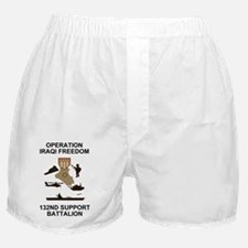 ARNG-132nd-Spt-Bn-Iraqi-Freedom-Shirt Boxer Shorts