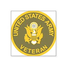 """Army-Veteran-Olive-Gold.gif Square Sticker 3"""" x 3"""""""