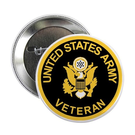 "Army-Veteran-Black-Gold.gif 2.25"" Button"