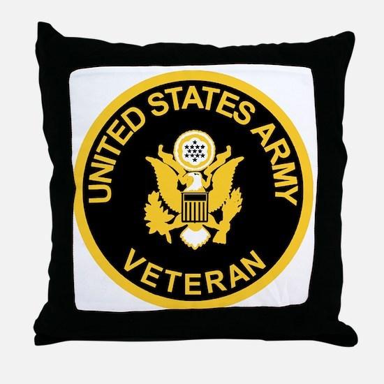 Army-Veteran-Black-Gold.gif Throw Pillow