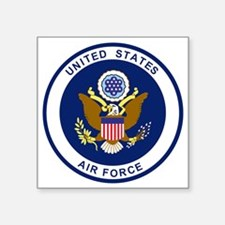 "USAF-Patch-Blue.gif Square Sticker 3"" x 3"""