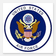"USAF-Patch-Blue.gif Square Car Magnet 3"" x 3"""