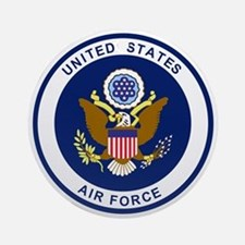 USAF-Patch-Blue.gif Round Ornament
