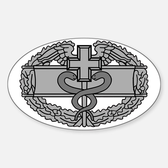 Army-Combat-Medical-Badge-Black-Shi Sticker (Oval)