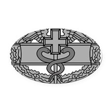 Army-Combat-Medical-Badge-Black-Sh Oval Car Magnet