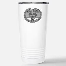 Army-Combat-Medical-Badge-Black Thermos Mug