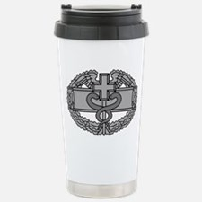 Army-Combat-Medical-Badge-Black Travel Mug