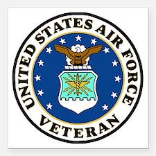 "USAF-Veteran-Bonnie-2.gi Square Car Magnet 3"" x 3"""