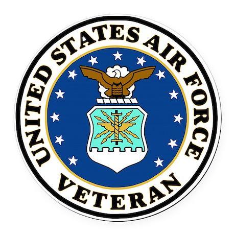 USAF-Veteran-Bonnie-2.gif Round Car Magnet