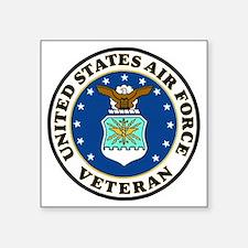 "USAF-Veteran-Bonnie-2.gif Square Sticker 3"" x 3"""