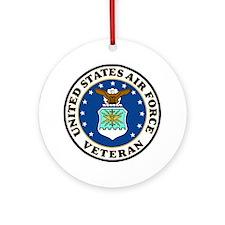 USAF-Veteran-Bonnie-2.gif Round Ornament