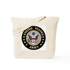 Army-Emblem-3-Black-Silver.gif Tote Bag