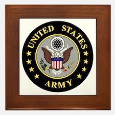 Army-Emblem-3-Black-Silver.gif Framed Tile