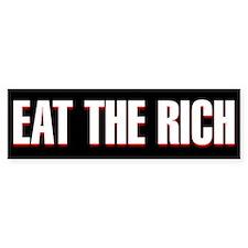 black eat the rich Bumper Bumper Sticker
