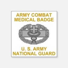 "ARNG-Combat-Medical-Badge-B Square Sticker 3"" x 3"""